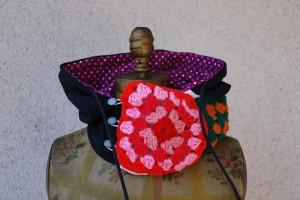 Polka Dot Hood Knit Squares
