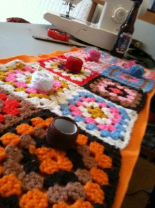 Sewing Granny Squares