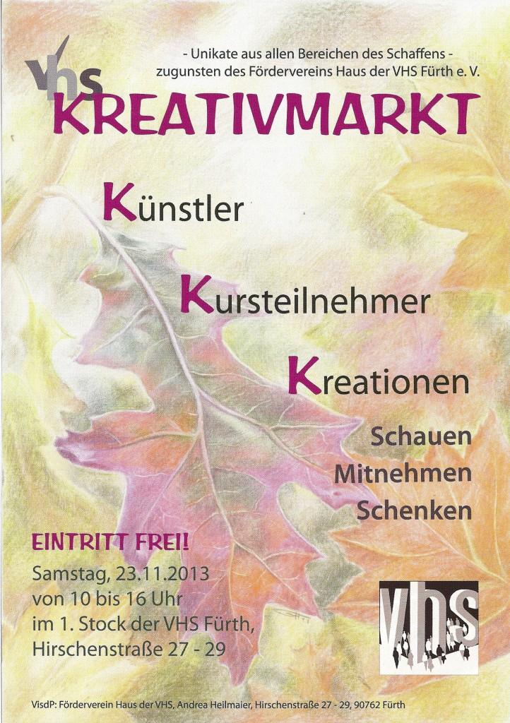 Kreativmarkt Flyer