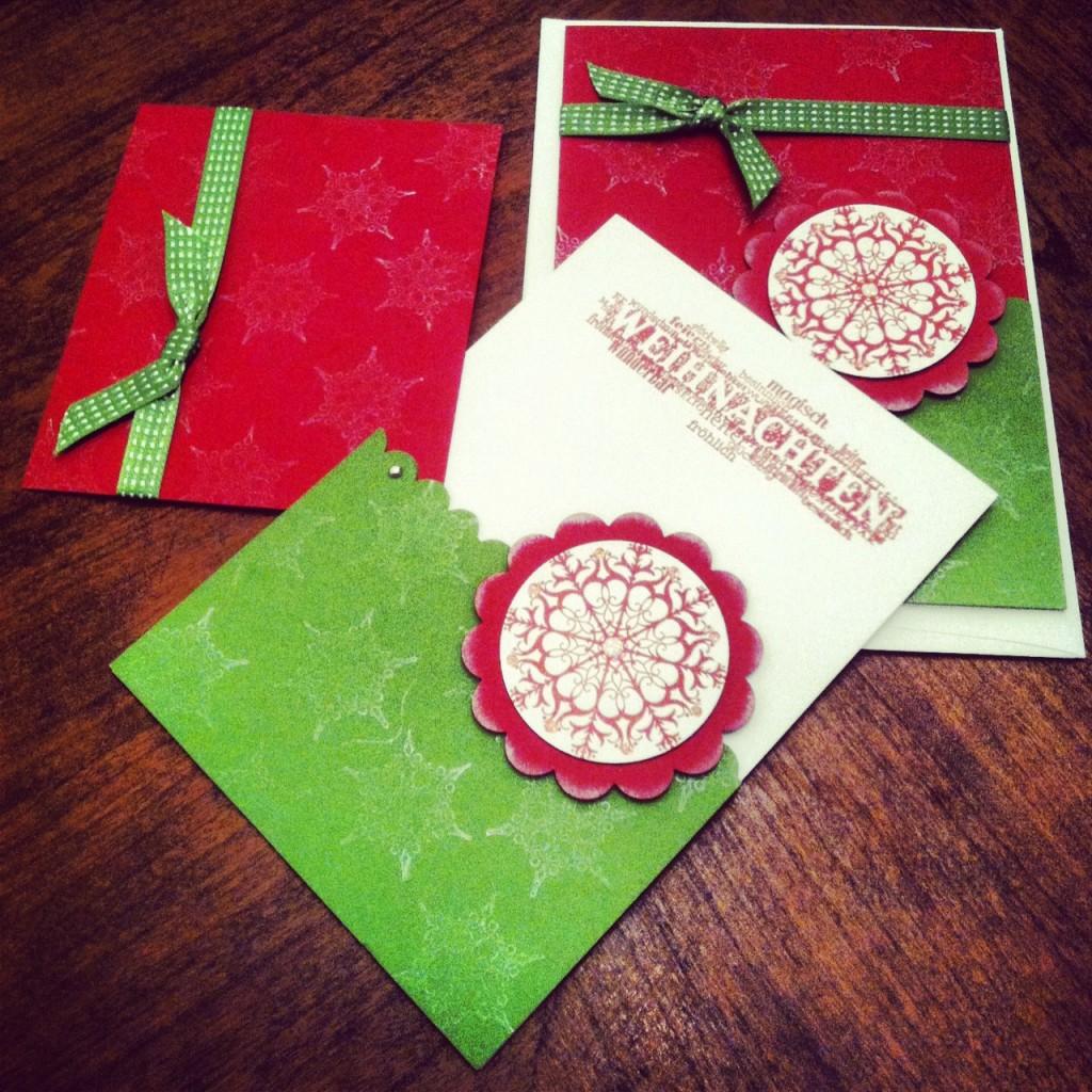 Handmade German Christmas Cards