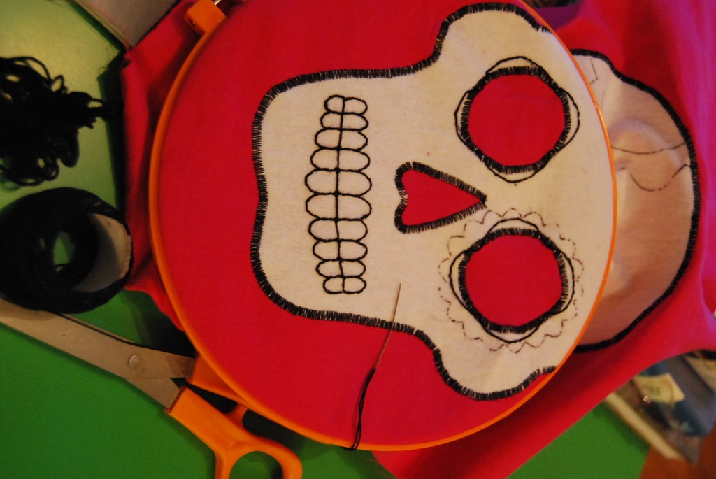 Embroidery Sugar Skull