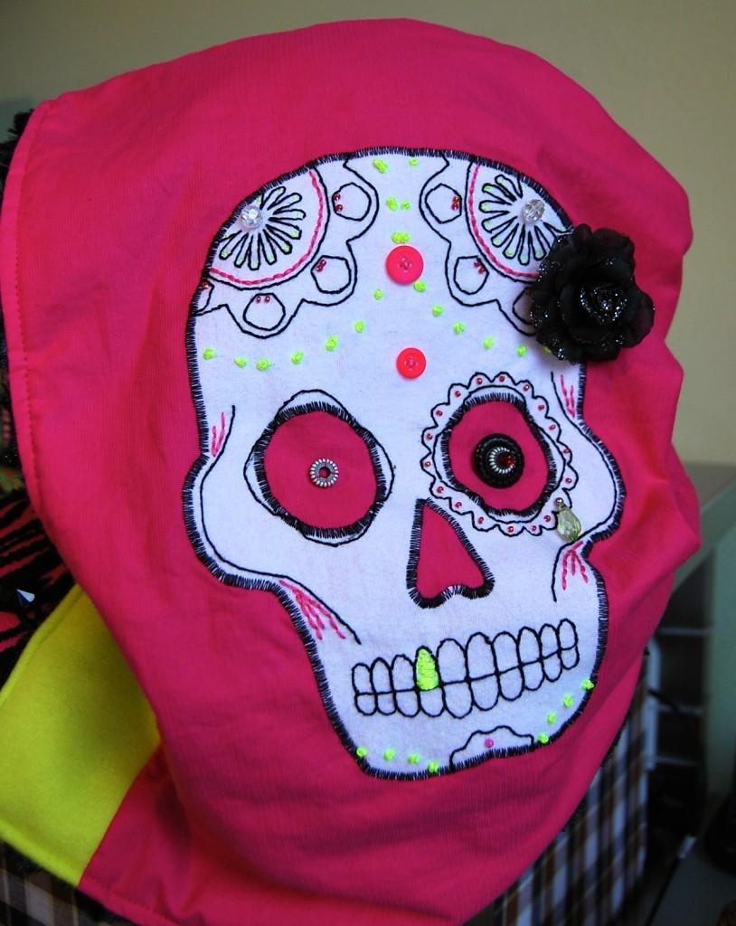 Hand Stitched Sugar Skull