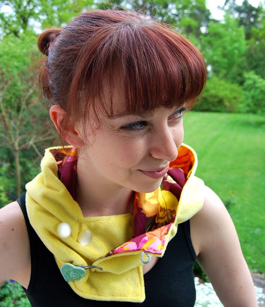 Yellow Hoodie Hat Florida Scaf
