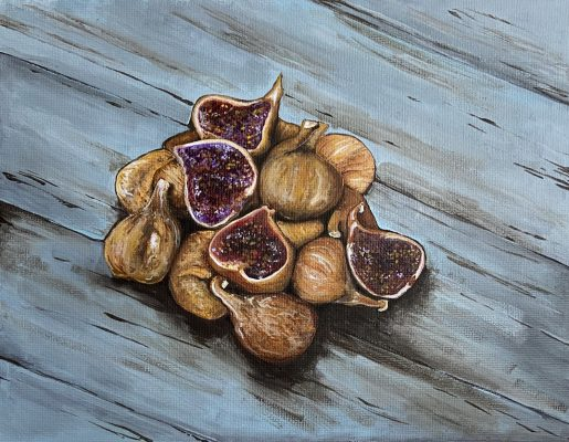 A painting of Dried Figs