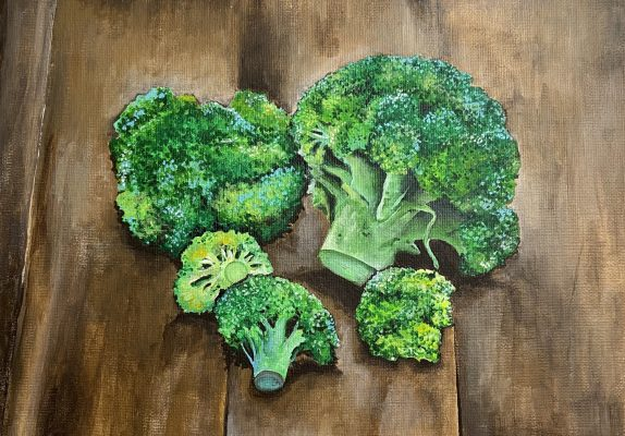 A painting of Broccoli